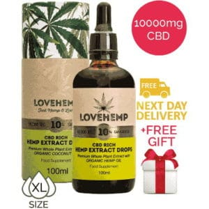 CBD Oil 10 XL Love Hemp UK